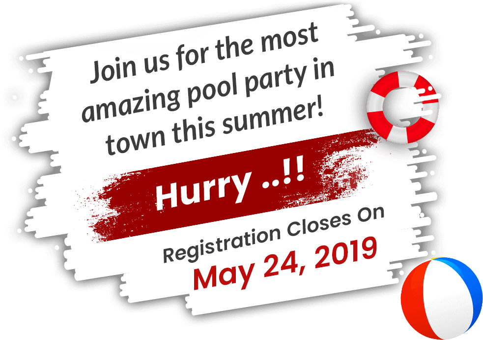 Join us for the most amazing pool party in town this summer!